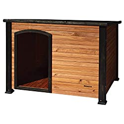 Precision Pet Weatherproof Log Cabin Dog House for Small, Medium or Large Dogs