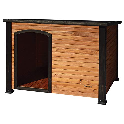 Petmate Precision Extreme Outback Log Cabin Dog House, Large, Natural Wood (7027013)