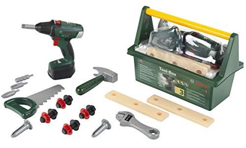 Theo Klein 8520 Caja de herramientas Bosch, Con martillo, sierra, llave inglesa...