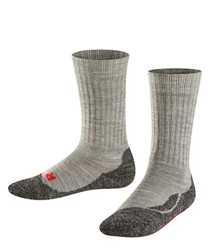Falke Unisex Kinder Socken, Active Warm K SO -10450, Grau (Mid Grey Melange 3530), 35-38