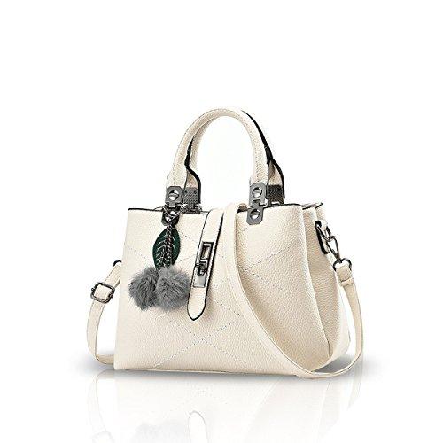 NICOLE & DORIS 2021 Neue Welle Paket Kuriertasche Damen weiblichen Beutel Handtaschen für Frauen Handtasche Weiß