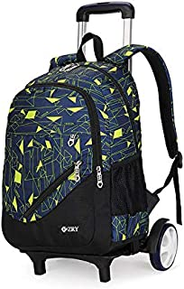 Wheeled Laptop Backpack 3-Piece Set Rolling Backpack, Travel Backpack with Men and Women Detachable Wheels, Business School Roller Backpack Laptop,B