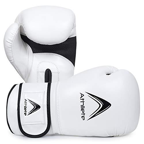 Athllete Training Boxing Gloves (Black/White 12 oz)