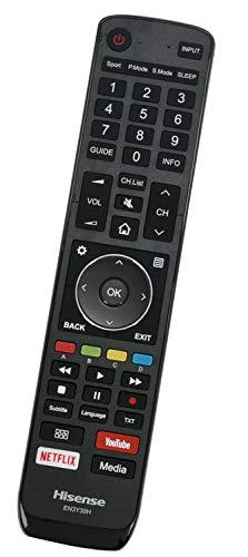 ALLIMITY EN3Y39H Reemplazo de Mando a Distancia para Hisense 4K TV H65AE6400 H55A6550 H50AE6400 H65U9A H55AE6400 H75U9A H43AE6400 H55U7A H43A6550 H65U7A H50A6550