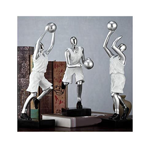 Yanxinenjoy Basketbal decoratie, tv-meubel, wijnrek, kantoor, decoratie voor thuis Wit