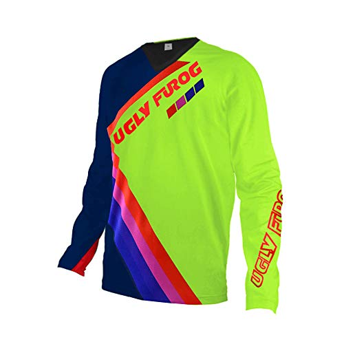 Uglyfrog Cool Bike Wear Men's Long Sleeve Cycling Jersey Motocross/Downhill Mountain Top Biking Shirt-Breathable and Quick Dry Motocross Clothes UKHBS04