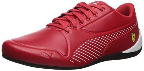 PUMA Men's Ferrari Drift CAT 7S Ultra Sneaker, Rosso Corsa White, 9 M US