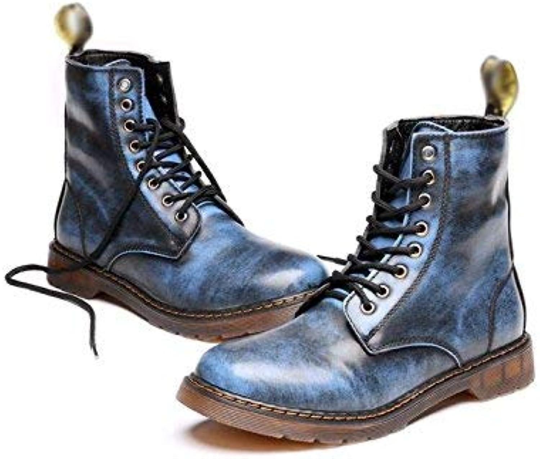 Fuxitogo Martin stövlar män med med med mjukt läder, snygga skor, 39 (färg  (Storlek  -)  dagliga låga priser