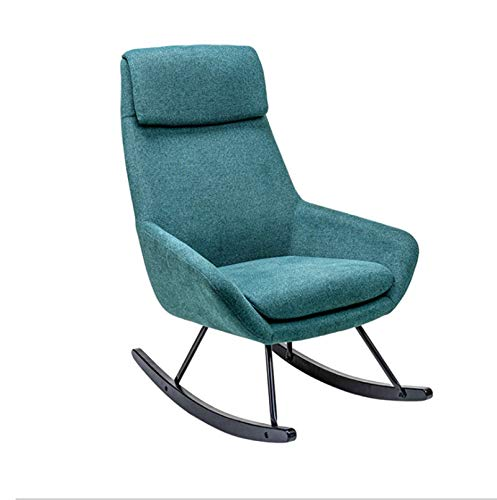 HUIJUTB Armchair Recliner, Household Single Rocking Rocking Chair Sofa Lazy Nap Chair, Used for Balcony Living Room Bedroom Reception Office Furniture,A