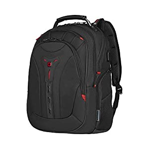 """41CKPRPQROL. SS300  - WENGER 606492 Pegasus Ballistic Deluxe 14""""/16"""" Expandable Laptop Backpack, Padded Laptop Compartment with SmartCharge USB Port in Black {25 litres}"""