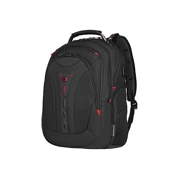 """41CKPRPQROL. SS600  - WENGER 606492 Pegasus Ballistic Deluxe 14""""/16"""" Expandable Laptop Backpack, Padded Laptop Compartment with SmartCharge USB Port in Black {25 litres}"""
