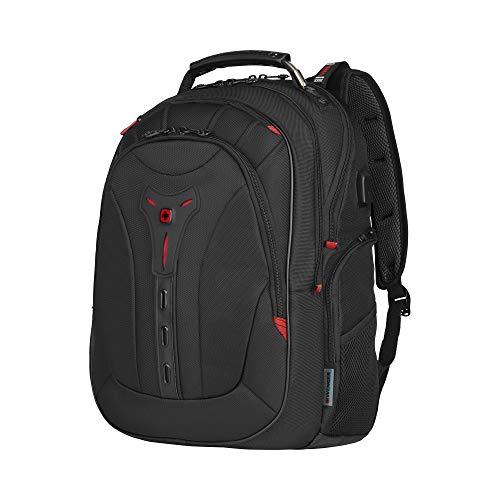 Wenger Pegasus Deluxe Laptoprucksack - 14''-16'' Laptopfach 10'' Tabletfach USB-Stecker Damen/Herren - Schwarz
