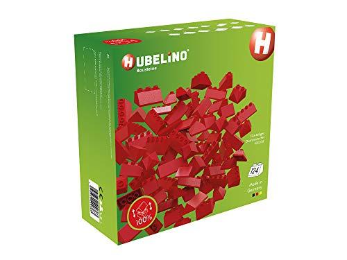Hubelino 400376 124-teiliges Dachsteine Set Bausteine, kompatibel