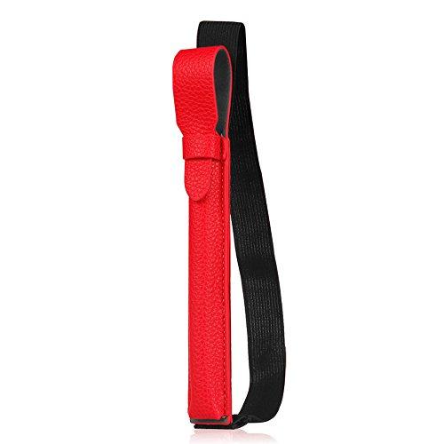 Fintie Halter für Apple Pencil (1. & 2. Generation), Kunstleder Stift Hülle mit USB-Adapter-Tasche kompatibel mit iPad 10.2 2020/2019, iPad Air 10.9 2020, iPad Pro 11/12.9 Schutzhüllen, Rot