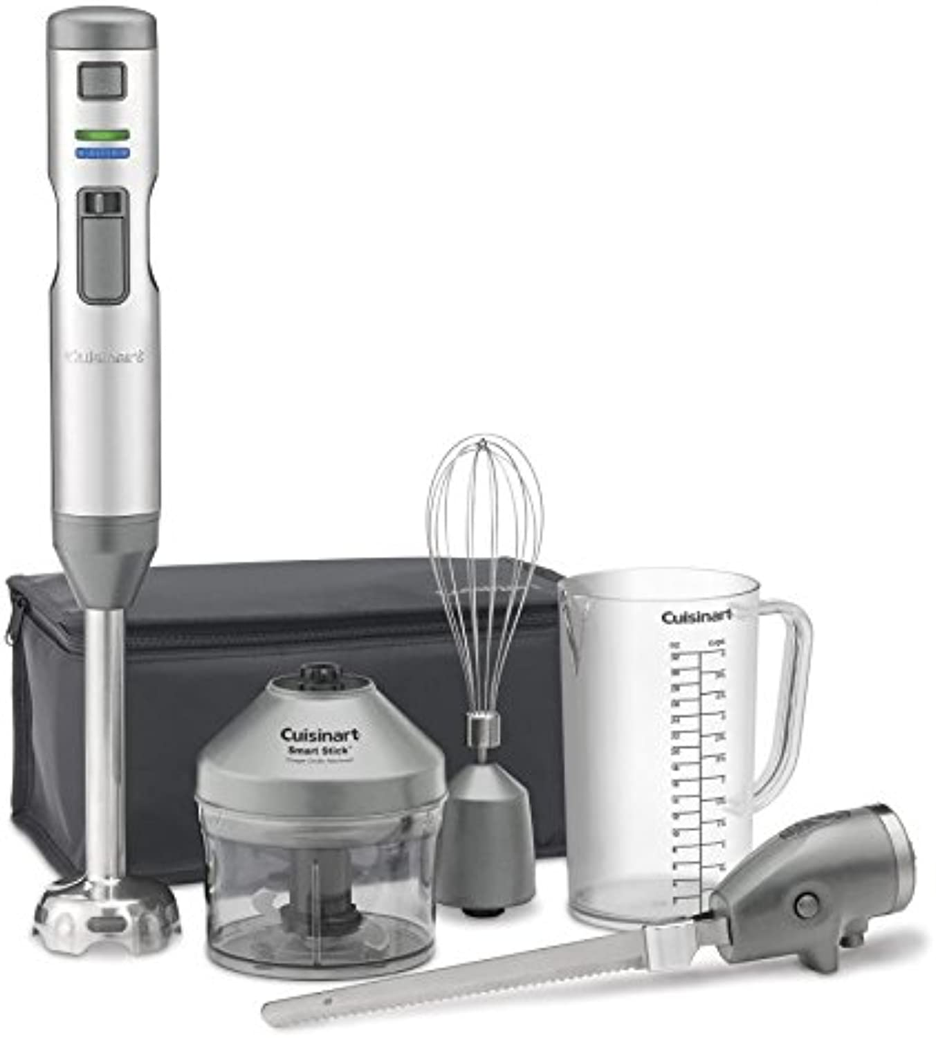 Cuisinart CSB-300 Rechargeable Hand Blender with Electric Knife, One Size, Stainless Steel