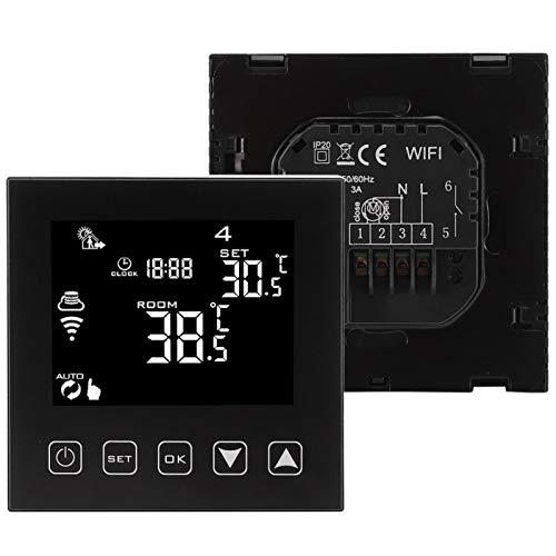 Shipenophy Controlador de Temperatura estándar Termostato WiFi de Calentamiento de Agua de Alta sensibilidad Estable para el hogar para la Oficina para la Industria