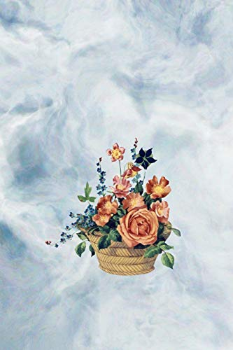 Blumenkorb: Notizbuch mit Blumen, |Blumen Notizbuch,|Handlettering, |Skizzenbuch, |Zeichenbuch, |Tagebuch, |tolles Geschenk für Blumenfreunde