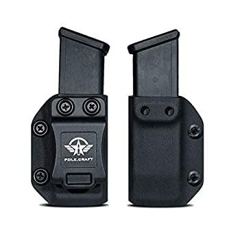 IWB/OWB Glock Magazine Holster Kydex - Glock Mag Carrier - Available Model  9mm/.40 Double Stack Magazines for  Glock 17 Glock 19 22 23 25 26 27 31 32 33 34 35 37 38 39 Magazines Holder Case