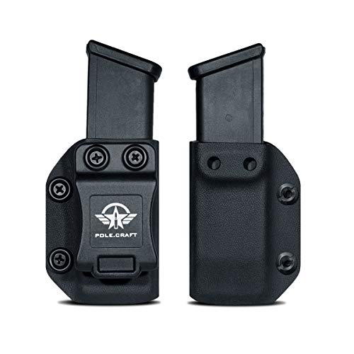 IWB/OWB Glock Magazine Holster Kydex - Glock Mag Carrier - Available Model: 9mm/.40 Double Stack Magazines for: Glock 17 Glock 19 22 23 25 26 27 31 32 33 34 35 37 38 39 Magazines Holder Case