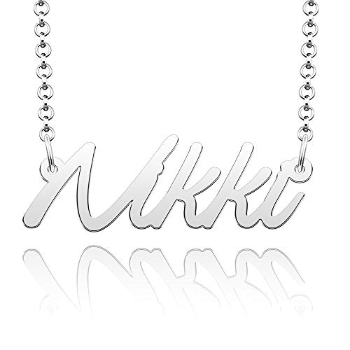 EV.YI Jewels Stainless Steel Number Personalize Custom 1mm Name Necklace