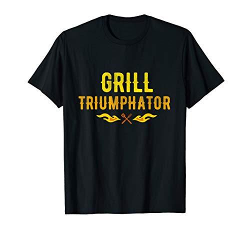 Herren Grill Triumphator Geschenk für Griller BBQ Papa T-Shirt