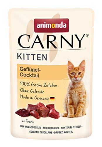 animonda Carny Kitten Katzenfutter, Nassfutter Katzen bis 1 Jahr, Geflügel-Cocktail, 12 x 85 g