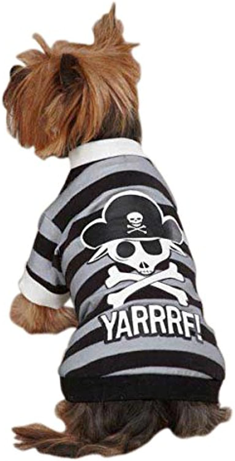 Casual Canine Pirate Tee Xlg Black
