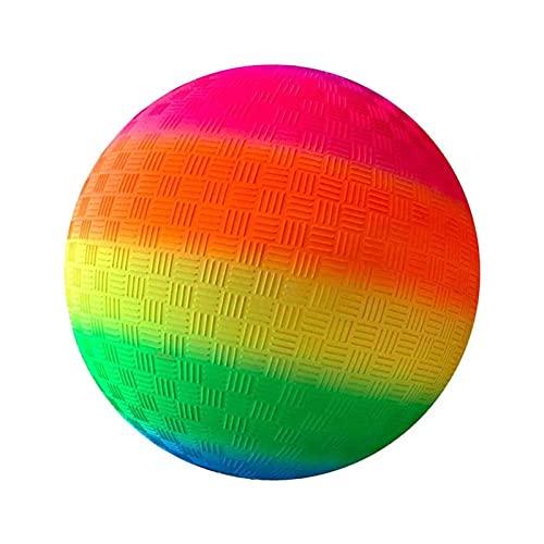 Pelota De Playa Juguetes Inflables De Arco Iris De 8.5 Pulgadas Pelota Hinchable Deportiva Para Niños, Color Brillante Pelota De Pvc Suave Para Niños Pequeños Fiesta En La Piscina Juguetes De Playa