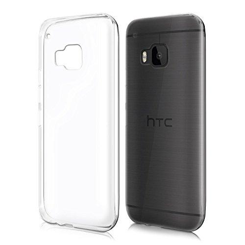 REY Funda Carcasa Gel Transparente para HTC One M9, Ultra Fina 0,33mm, Silicona TPU de Alta Resistencia y Flexibilidad