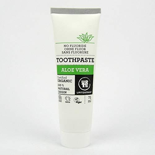 3x Urtekram Aloe Vera Bio Zahnpasta Zahncreme fluoridfrei 75 ml