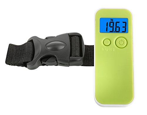 TFA Dostmann Digitale Kofferwaage, Gewichtskontrolle des Reisegepäcks, klein, handlich, Tara-Funktion