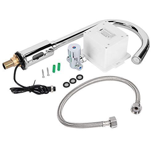 zcyg Grifo Grifo De Agua, Grifo De Agua Sin Contacto Automático De Inducción con Sensor LED Colorido para Lavabo De Cocina De Baño G1 / 2'