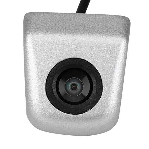 Cámara de visión trasera del coche, cámara de visión trasera CCD cámara de visión trasera de visión nocturna de estacionamiento de respaldo a prueba de agua(plata)