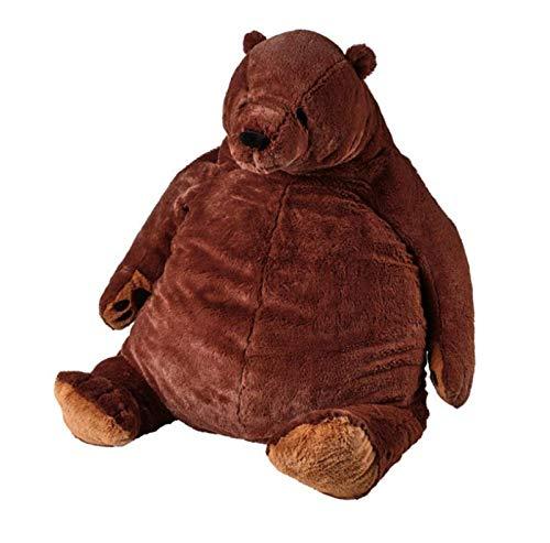 DJUNGELSKOG Bear Toy, Giant Simulation Bear Toy, Brown Teddy Bear Stuffed Animal Toys, Home Decor Birthday Gift for Kid Bear (Brown, 100CM)