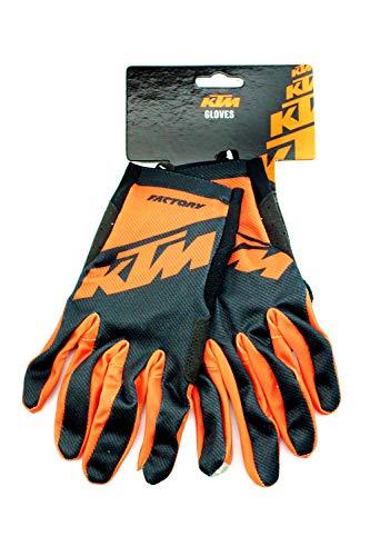 KTM Fahrrad MTB Enduro Handschuhe - Schwarz/Orange, Größe:L