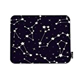 Mugod Stars Mousepad Beautiful Cosmic Space Astronomy Pattern with Stars and Constellations on Night Starry Sky Print Anti-Slip Natural Rubber Gaming Mouse Pad Rectangle Mouse Pads 7.9x9.5 Inches