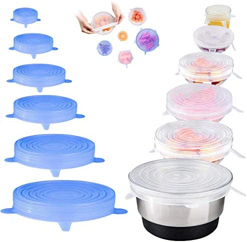 12 PCS Silicone Stretch Lids AUSSUA Reusable Durable Food Storage Covers for Bowl Eco Lids 6 product image