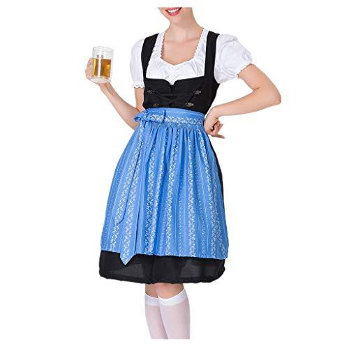 NEEKY Damen DienstmäDchen Tragen Damen Bier Festival Kleid Bayerisches Bier Festival Cosplay Kostüme DienstmäDchenTragen(S,Blau)