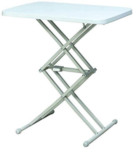 Mesa plegable de altura ajustable en altura, mesa de estación de trabajo portátil multipropósito para computadora portátil - Mesa plegable Escritorio con marco de metal para picnic de viaje en interio