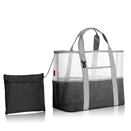 YOOFAN Beach Tote Bag- Mesh Wet ...