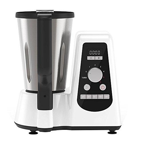 Novohogar Robot de Cocina Multifunción. Tamaño Compacto con Capacidad de 1,5L. Ideal para Cocinar Todo Tipo de Recetas: Tritura, Ralla, Bate, Amasa... La más Económica del Mercado.