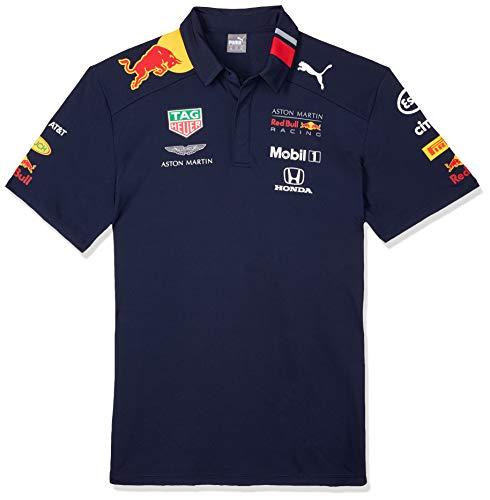 Red Bull Racing Aston Martin Team Polo 2019, S, Azul (Navy Navy), Small para Hombre