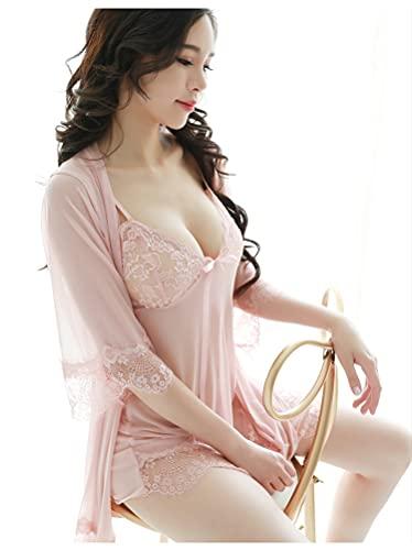 Conjunto De Pijama Camisón De Talla Grande con Tirantes De Encaje para Mujer