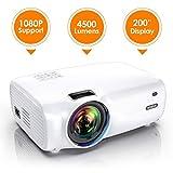Vidéoprojecteur, WiMiUS 4500 Lumens Vidéo Projecteur Portable Full HD Soutien 1080P...