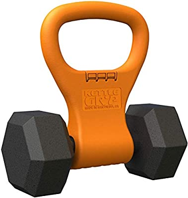 Kettle Gryp - Kettlebell Adjustable Portable Weight Grip Travel Workout Equipment Gear for Gym Bag, Crossfit WOD, Weightlifting, Bodybuilding, Lose Weight | Clamps to Dumbbells | Made in U.S.A. from Kettle Gryp