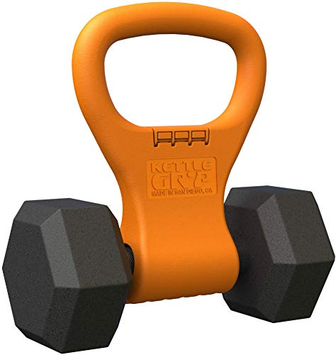 Kettle Gryp Kettlebell Adjustable Portable Weight Grip Travel Workout Equipment Gear for Gym Bag, Crossfit WOD, Weightlifting, Bodybuilding, Lose Weight | Clamps to Dumbells