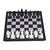 Juegos de ajedrez de Jaques - Juego de ajedrez magnético con Caja de Tablero de ajedrez Plegable Ajedrez Ajedrez Chaquetas de Damas, Blanco y Negro