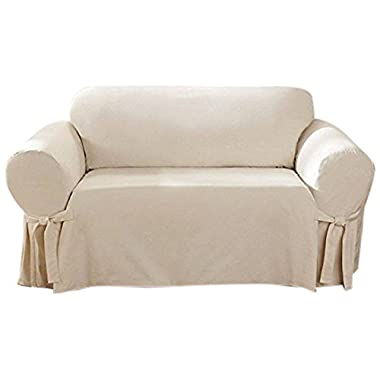 Sure Fit Cotton Duck - Loveseat Slipcover - Natural (SF26807)