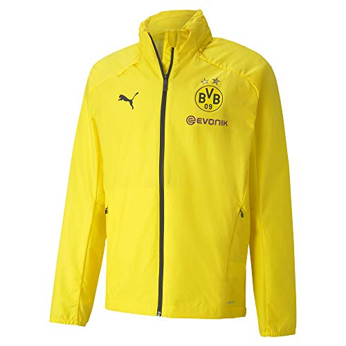 PUMA Herren BVB Rain Jacket Regenjacke, Cyber Yellow Black, L