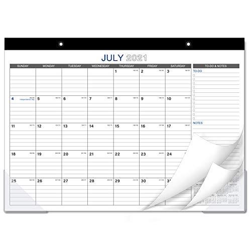 """2021-2022 Desk Calendar - 18 Months Large Monthly Desk Calendar, 17"""" x 12"""", Desk Pad, Jan 2021 - June 2022, Large Ruled Blocks, To-do List & Notes, Best Desk Calendar for Organizing"""